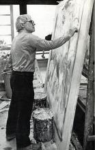 Kooning in his studio