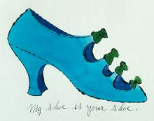 Andy Warhol - I. Miller Shoes Illustration (1955)