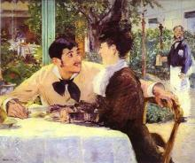 Edouard Manet - At Pere Lathuille's