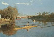 Thomas Eakins - Max Schmitt in a Single Scull (1871)