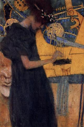 Gustav Klimt - Music Wallpaper #4 320 x 480 (iPhone/iTouch)
