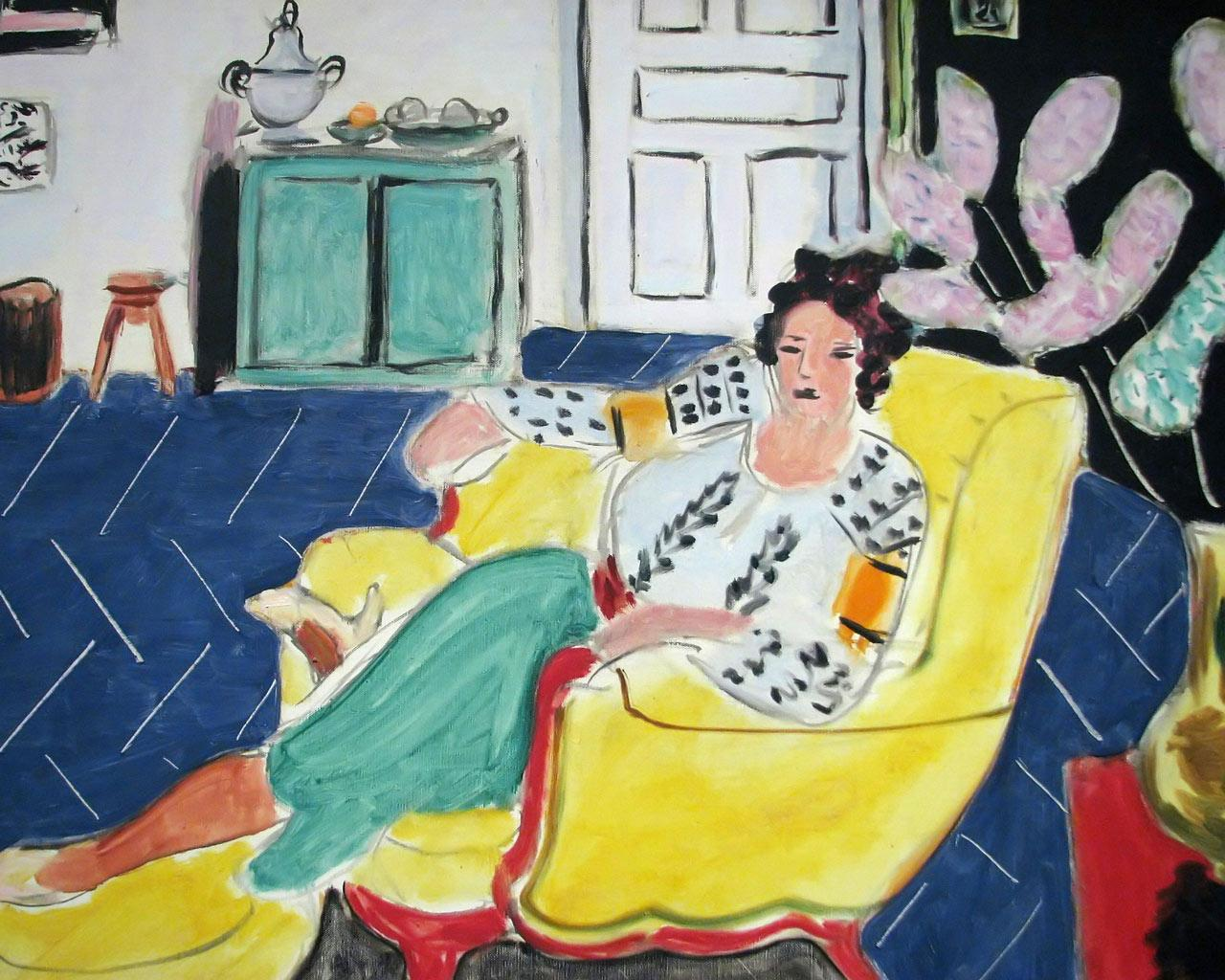 Henri Matisse - Woman Seated in an Armchair Wallpaper #4 1280 x 1024