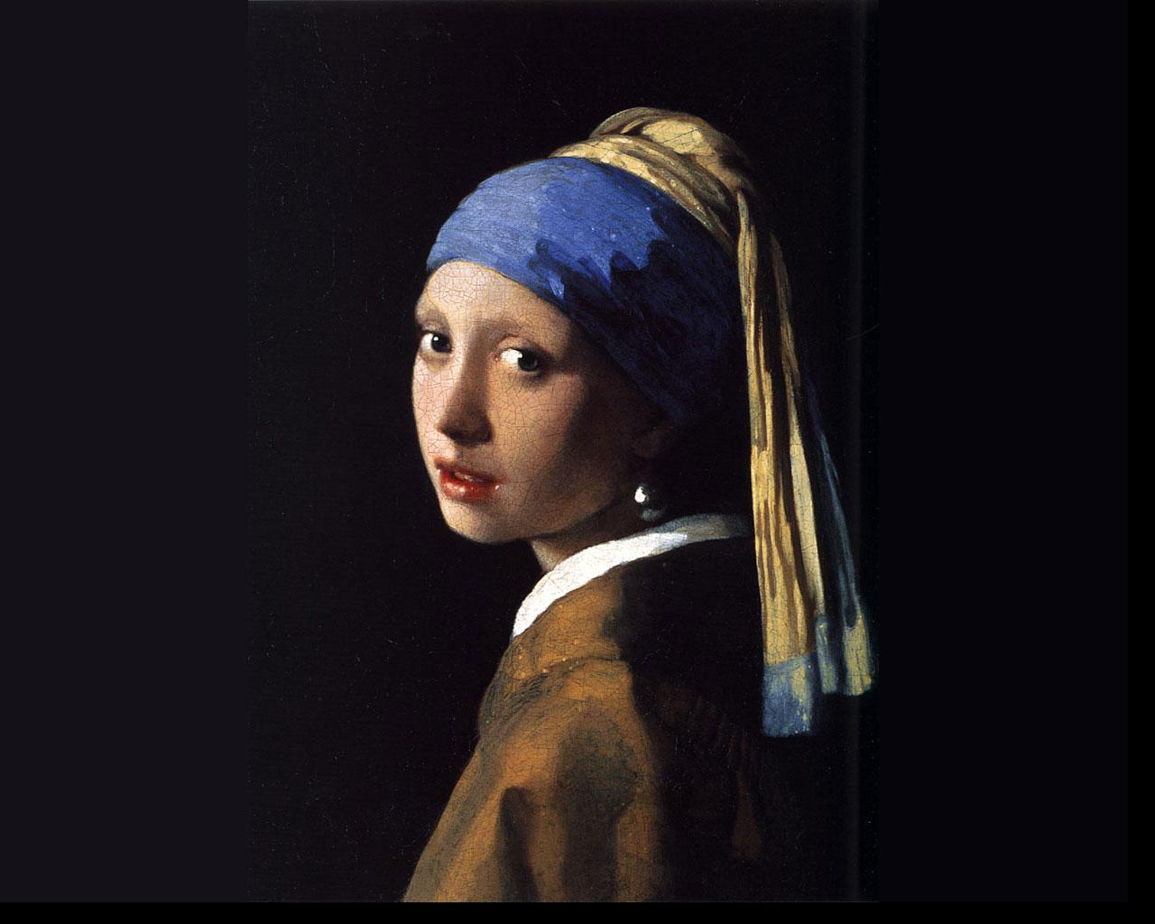 Johannes Vermeer - Girl with a Pearl Earring Wallpaper #4 1280 x 1024