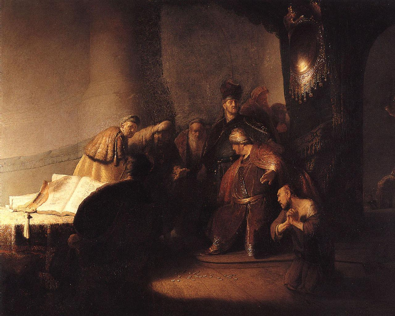 Rembrandt - Judas Returning the Thirty Pieces of Silver Wallpaper #4 1280 x 1024