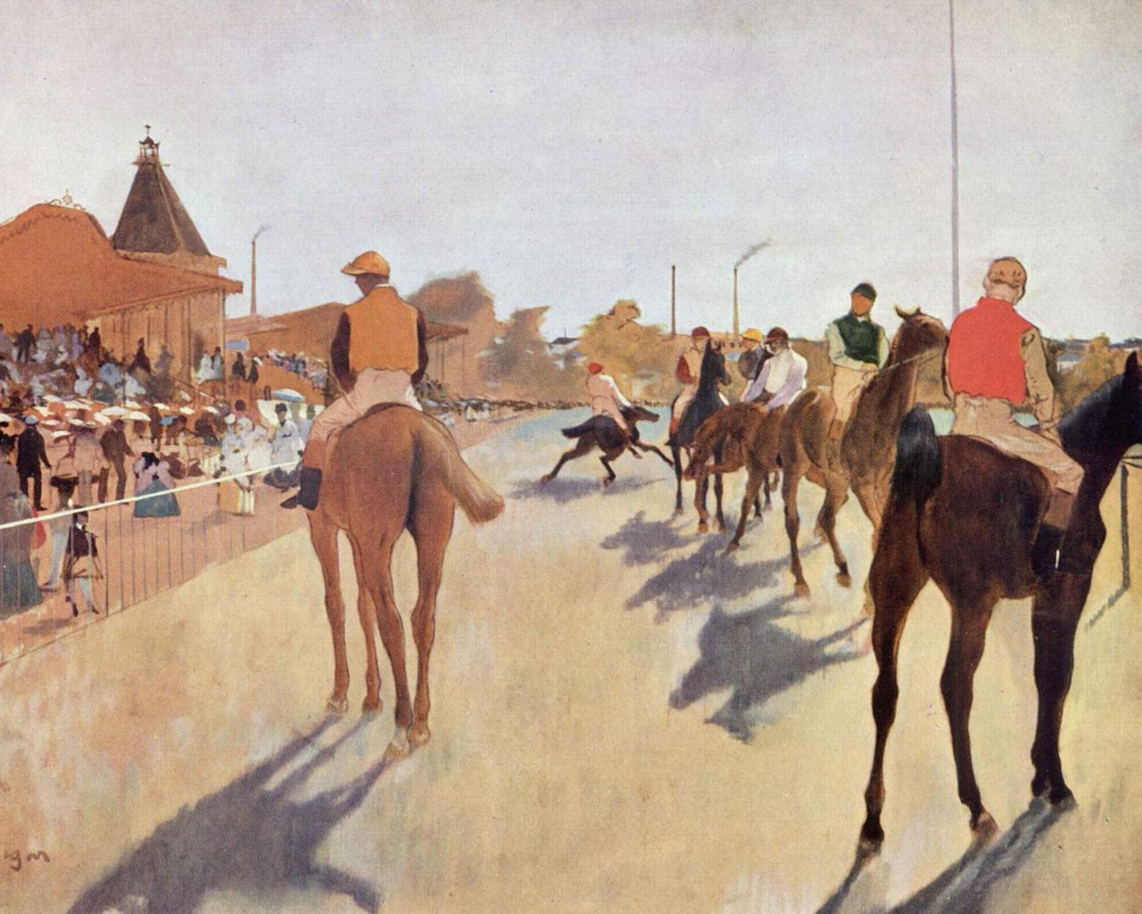Edgar Degas - Jockeys Wallpaper #3 1280 x 1024