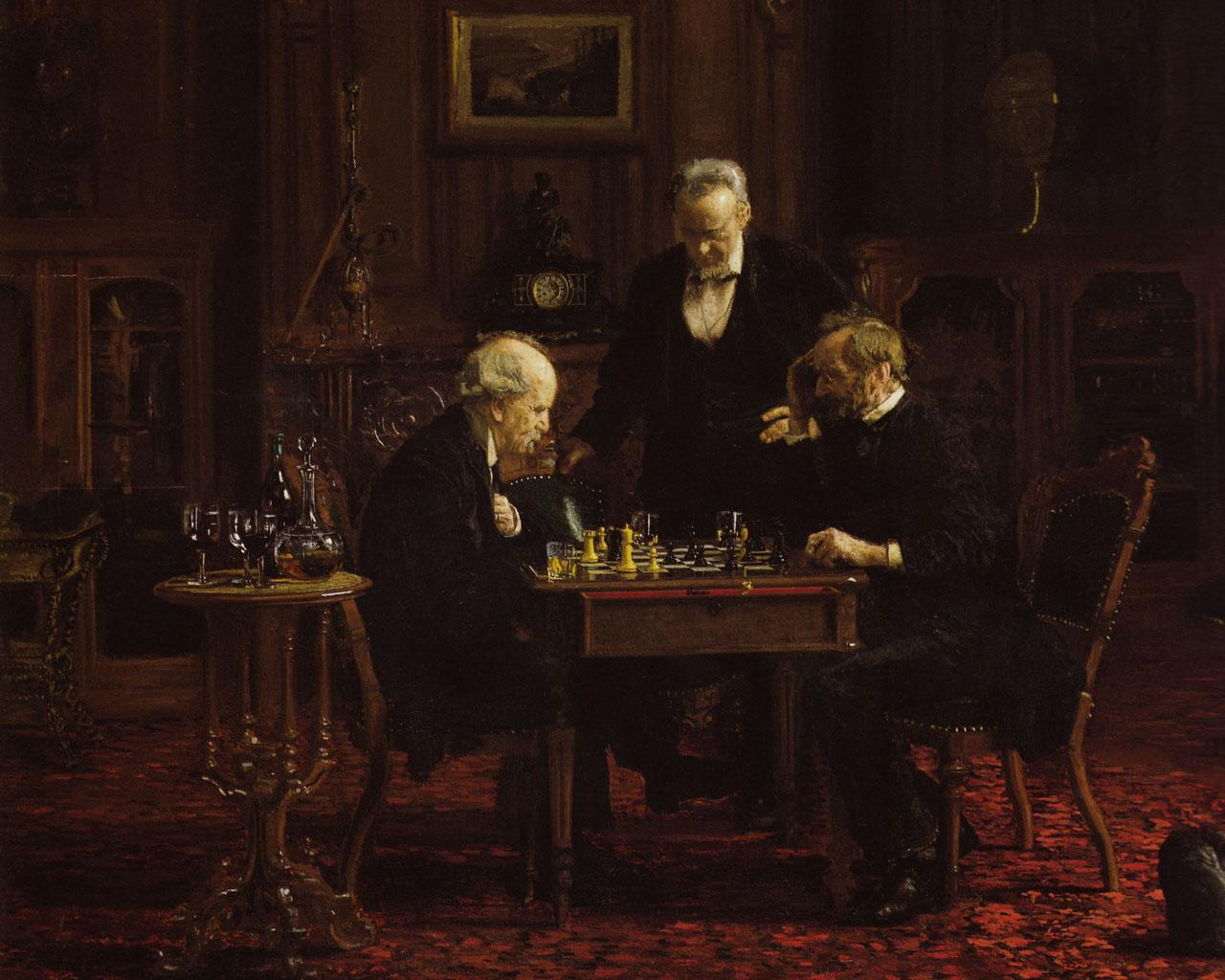 Thomas Eakins - The Chess Players (1876) Wallpaper #3 1280 x 1024