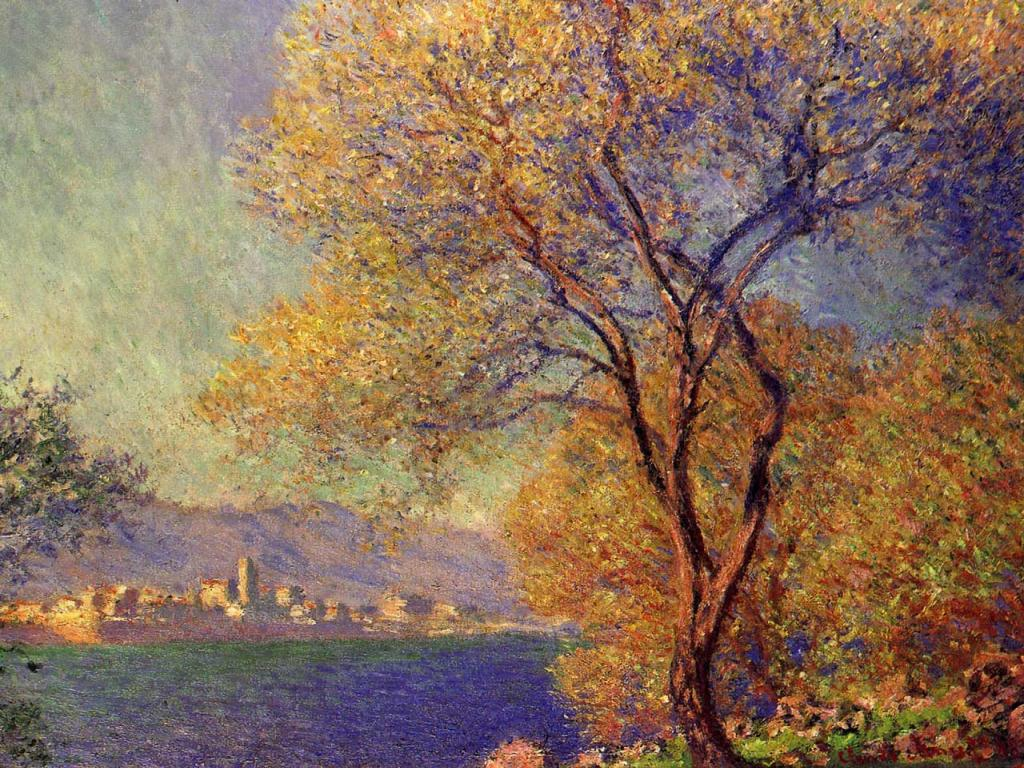 Claude Monet - Antibes vue de la Salis Wallpaper #3 1024 x 768