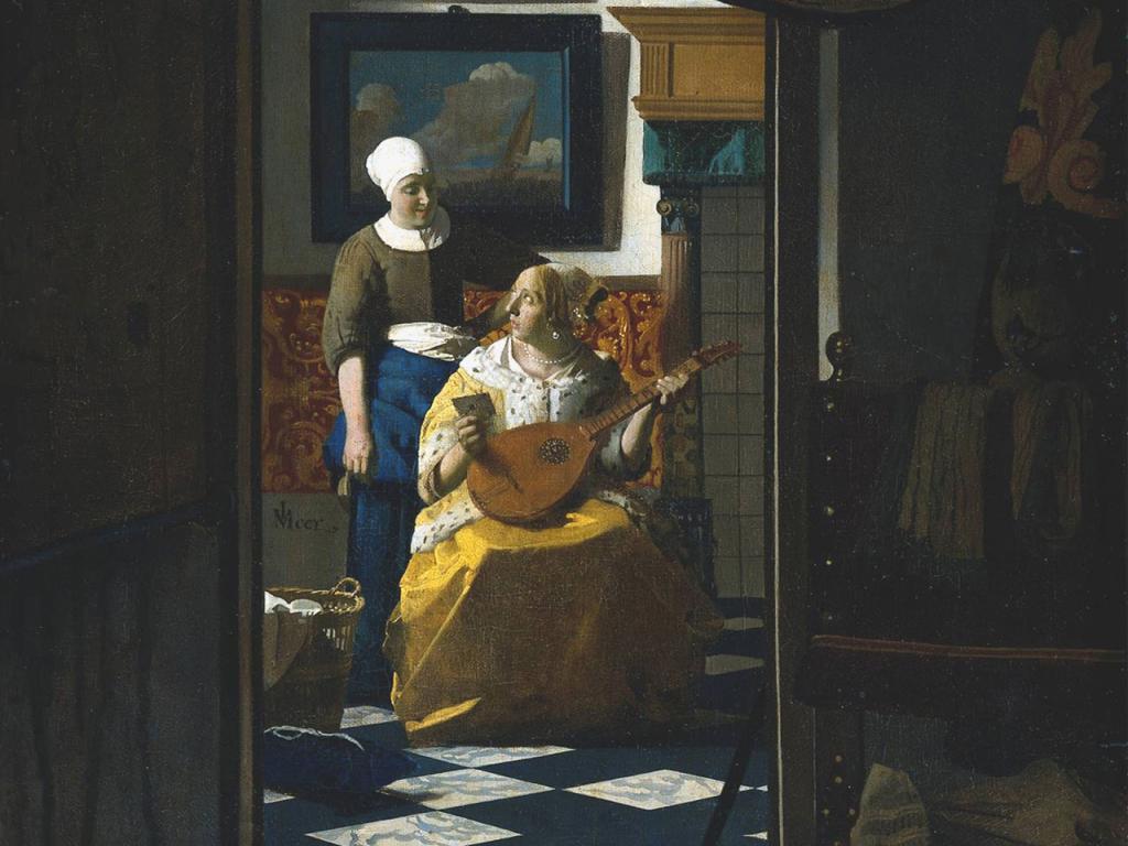 Johannes Vermeer - The Love Letter Wallpaper #3 1024 x 768.