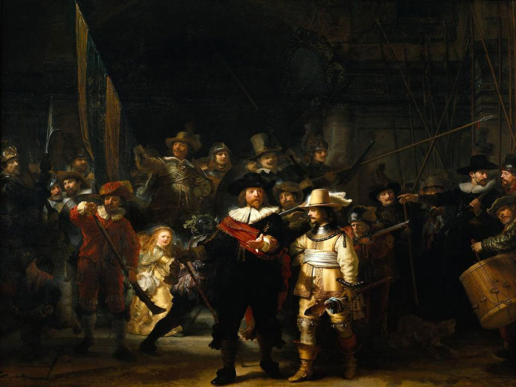 Rembrandt - The Night Watch Wallpaper #1 1024 x 768
