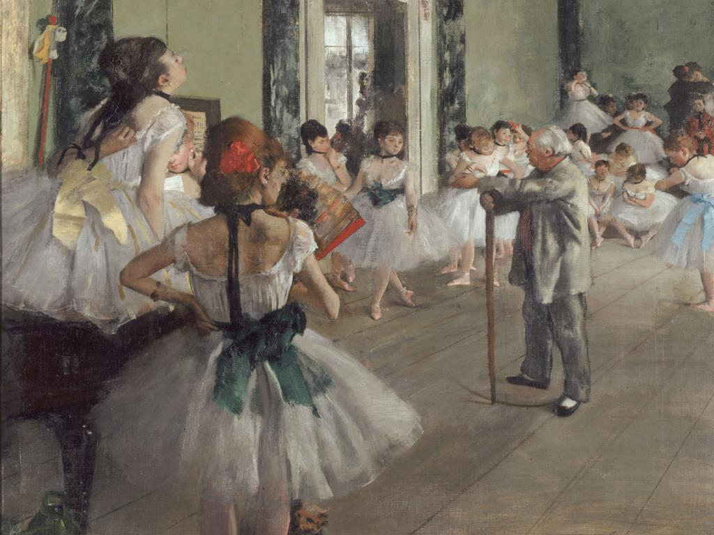 Edgar Degas - The Dancing Class Wallpaper #1 1024 x 768