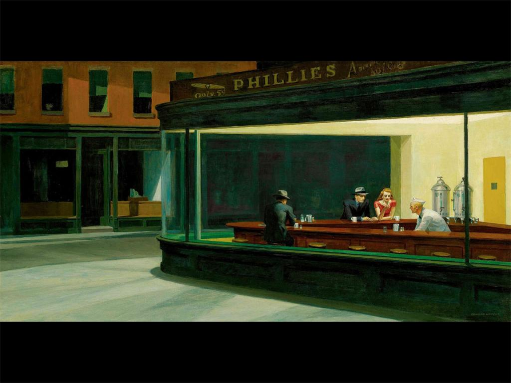 Edward Hopper - Nighthawks (1942) Wallpaper #4 1024 x 768