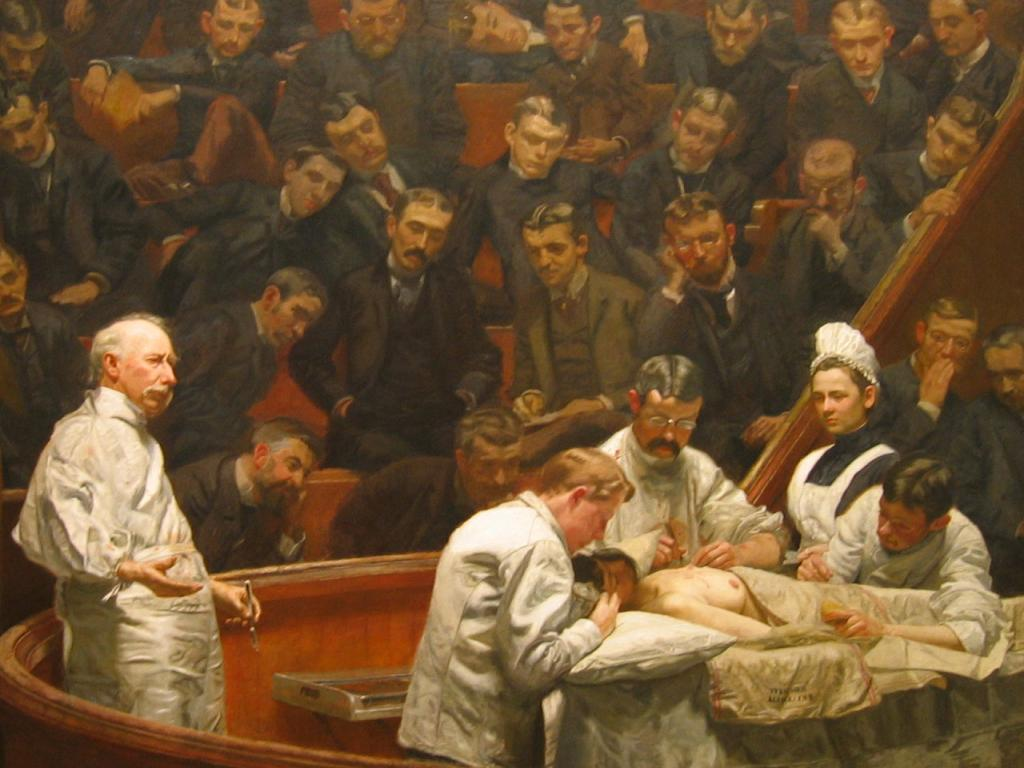 """an analysis of thomas eakins paint the gross clinic Oh romanticism (1800-1850)  lay in anatomy as it helped him paint more realistically eakins also found himself  eakins, thomas """"the gross clinic,."""