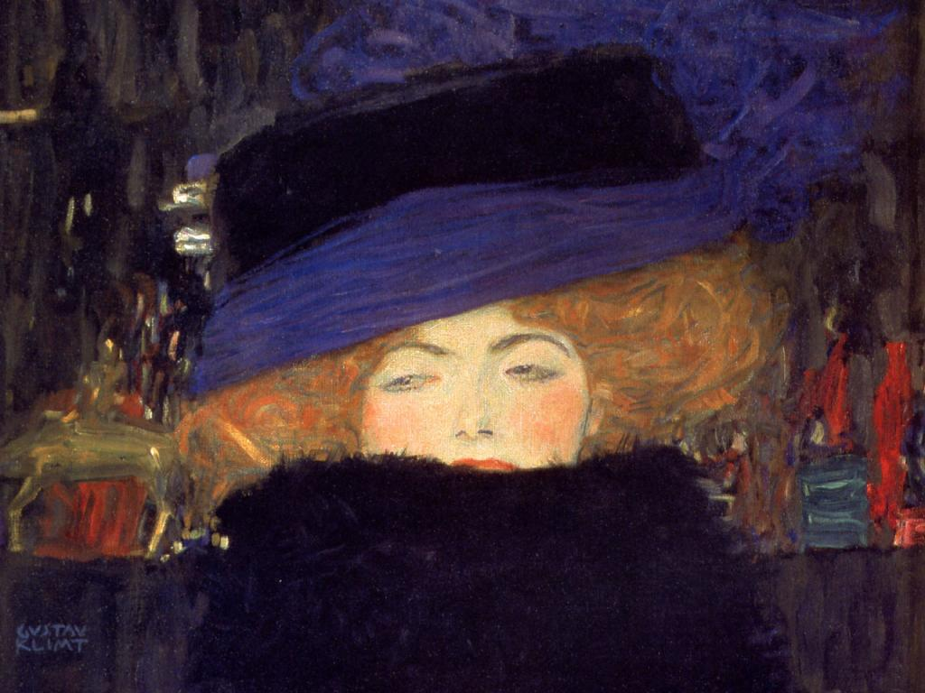 Gustav Klimt - Lady With Hat Wallpaper #2 1024 x 768