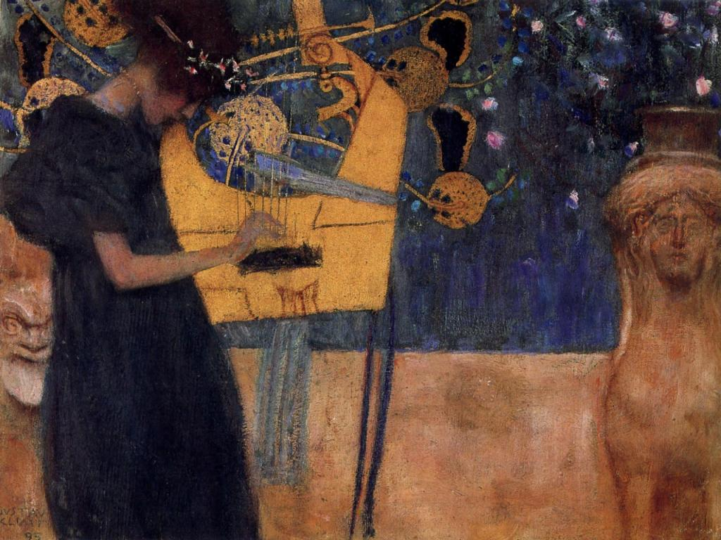Gustav Klimt - Music Wallpaper #4 1024 x 768