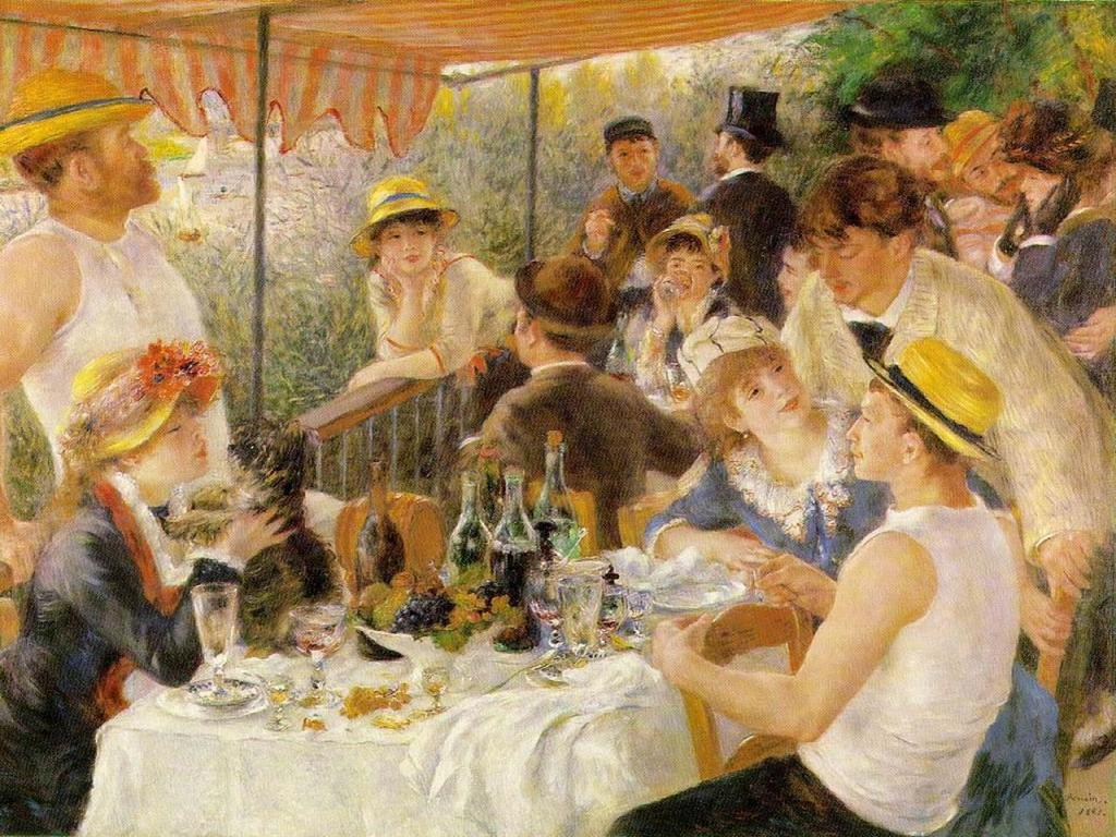Auguste Renoir - The Luncheon of the Boating Party Wallpaper #4 1024 x 768