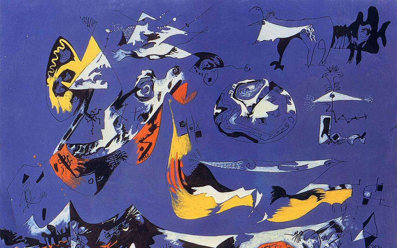 Jackson Pollock - Blue - Moby Dick (1943) Wallpaper #1 1280 x 800