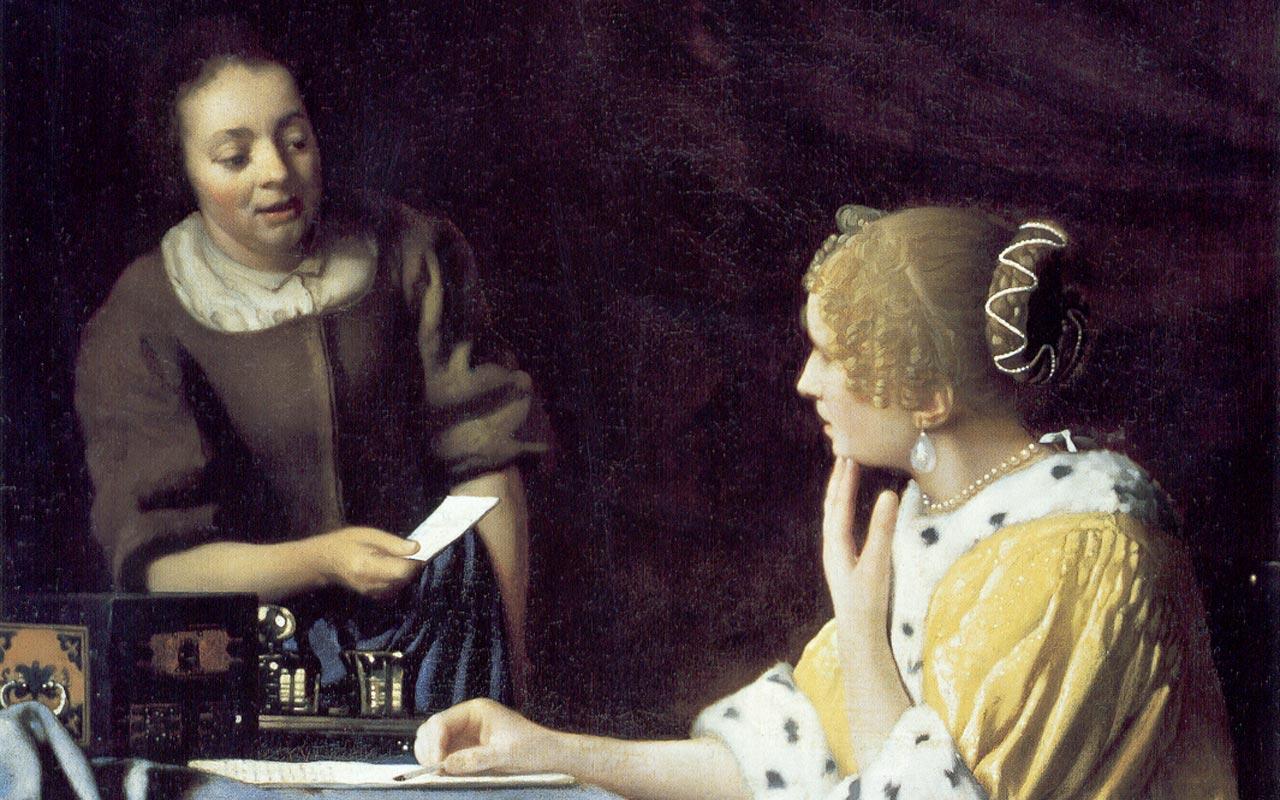 Best artist - Johannes Vermeer - Mistress and Maid ...