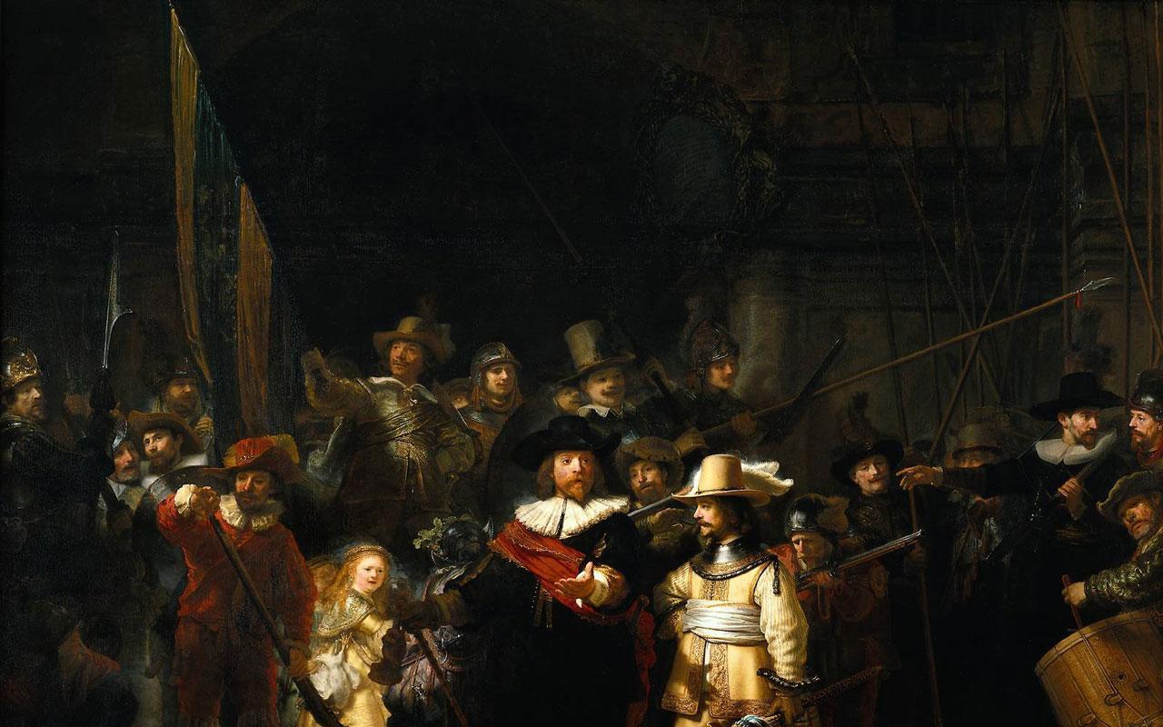 Best Artist Rembrandt The Night Watch 1280x800