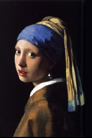 Johannes Vermeer - Girl with a Pearl Earring Wallpaper #4 320 x 480 (iPhone/iTouch)