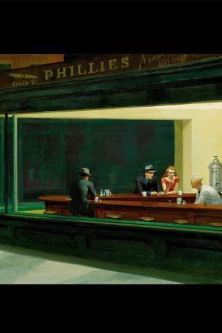 Best artist - Edward Hopper - Nighthawks (1942) 320x480 ...