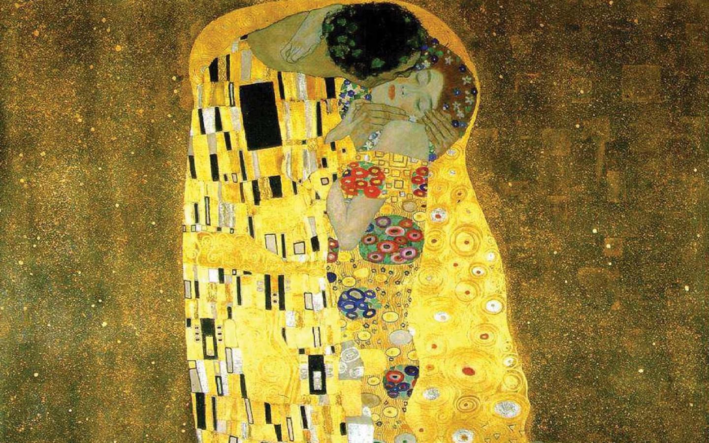 Best artist - Gustav Klimt - The Kiss 1440x900 Wallpaper #1