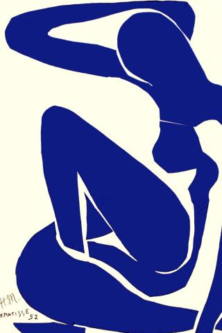 Henri Matisse - Blue Nude Wallpaper #3 320 x 480 (iPhone/iTouch)