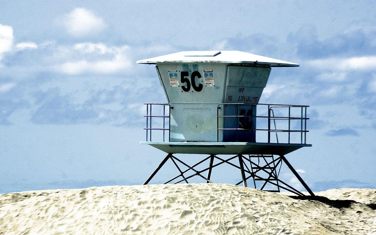 Best beach - Coronado Beach, California - Lifeguard Tower 1280x800 ...
