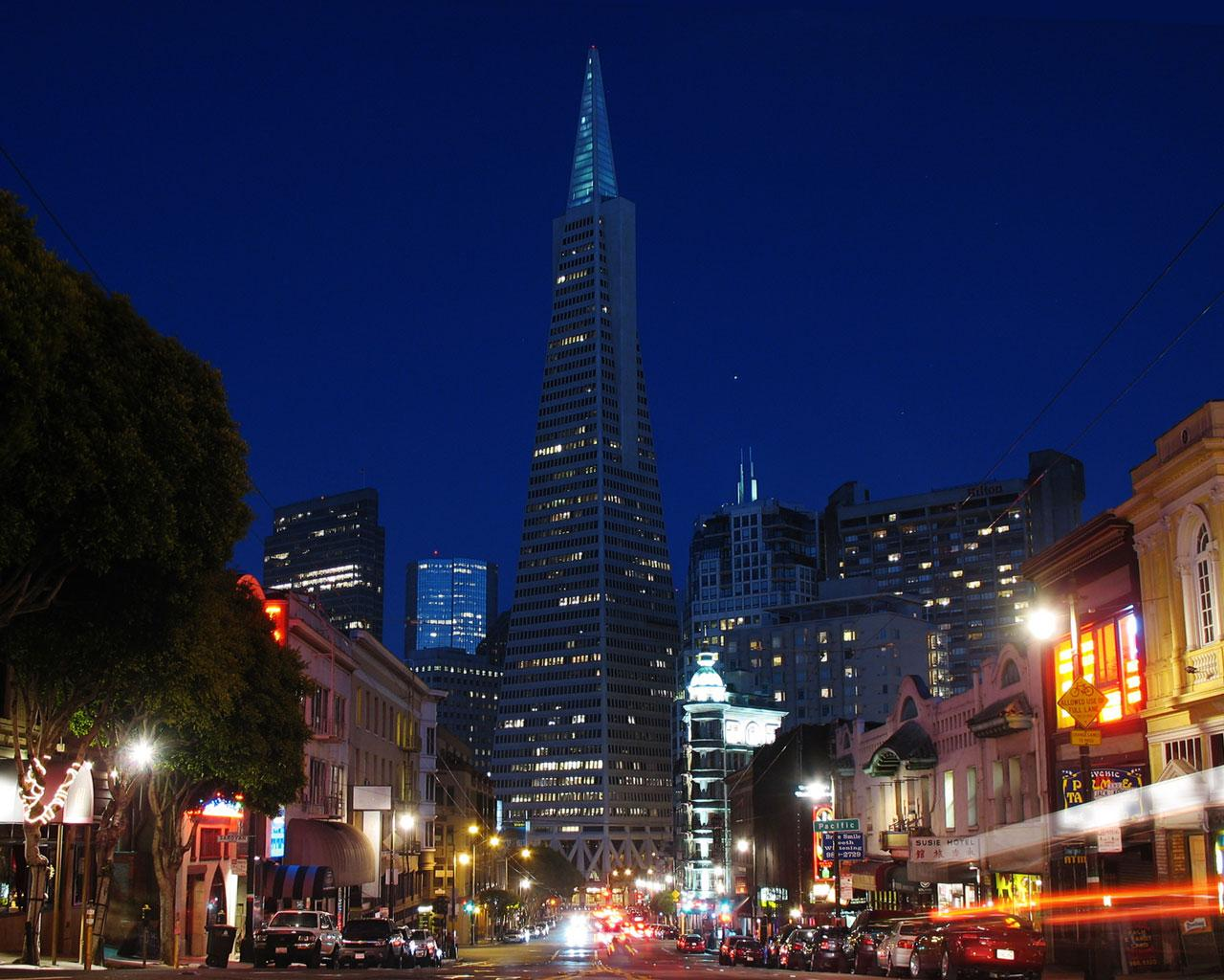 San Francisco - Transamerica Tower Wallpaper #1 1280 x 1024
