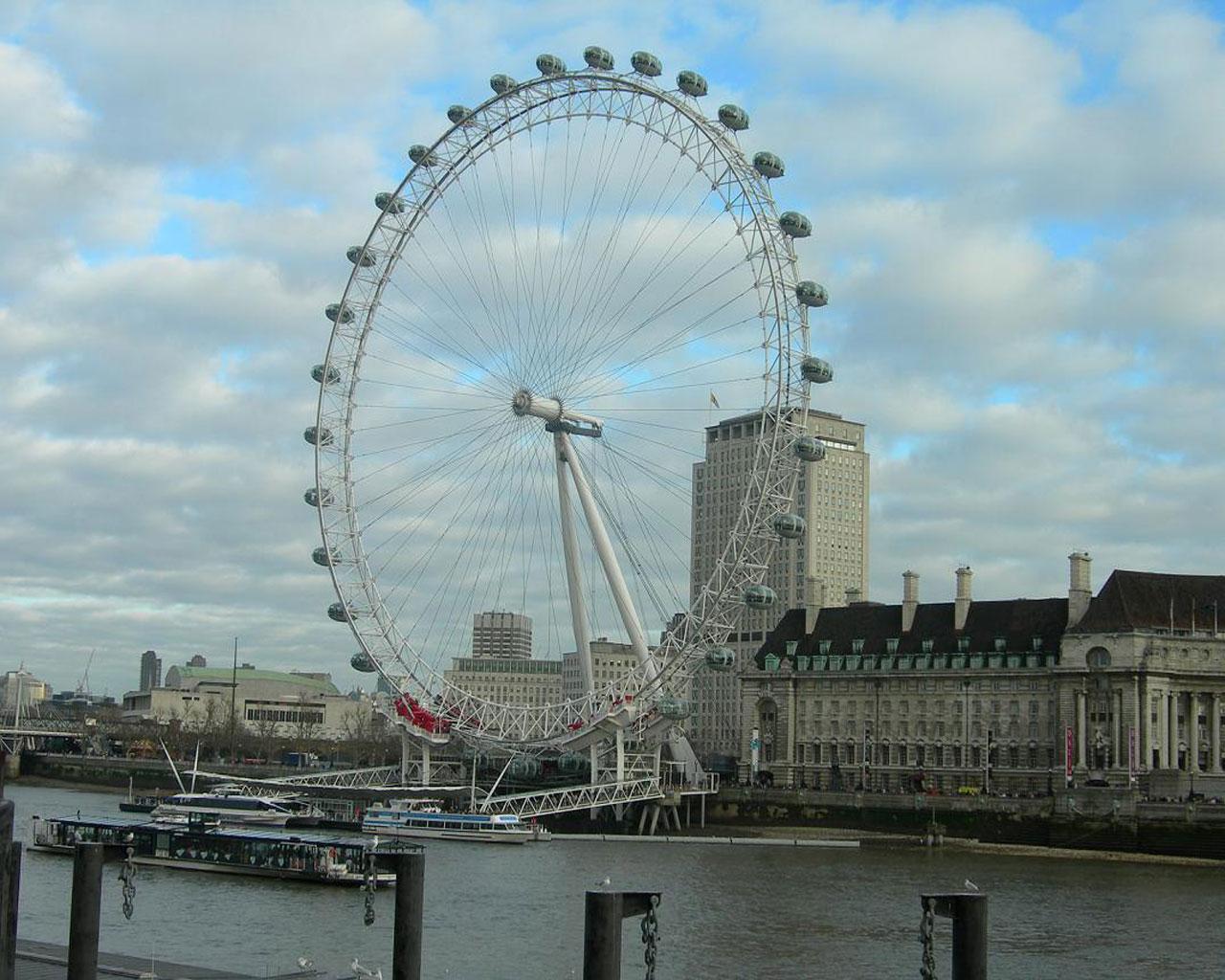 Best city - london - london eye 1280x1024 wallpaper #2