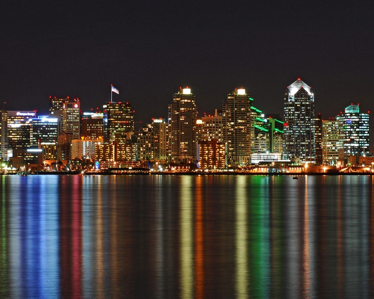 Best city - San Diego - City Skyline 1280x1024 Wallpaper #1