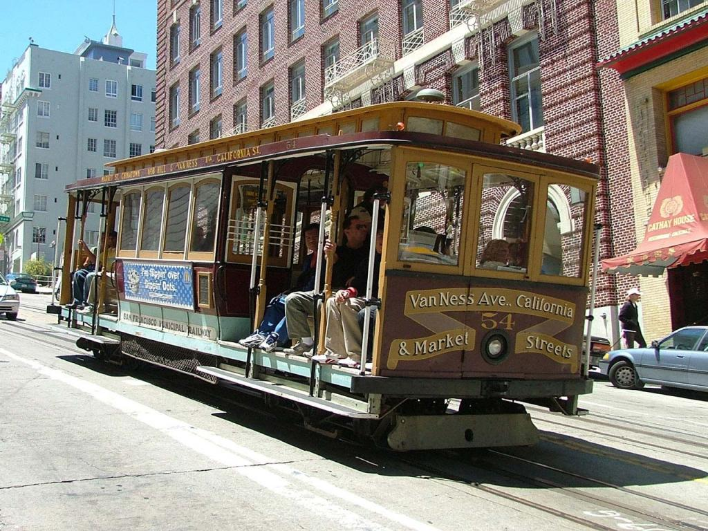 San Francisco - Cable Car Wallpaper #3 1024 x 768