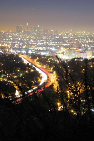 best city los angeles city from hollywood hills