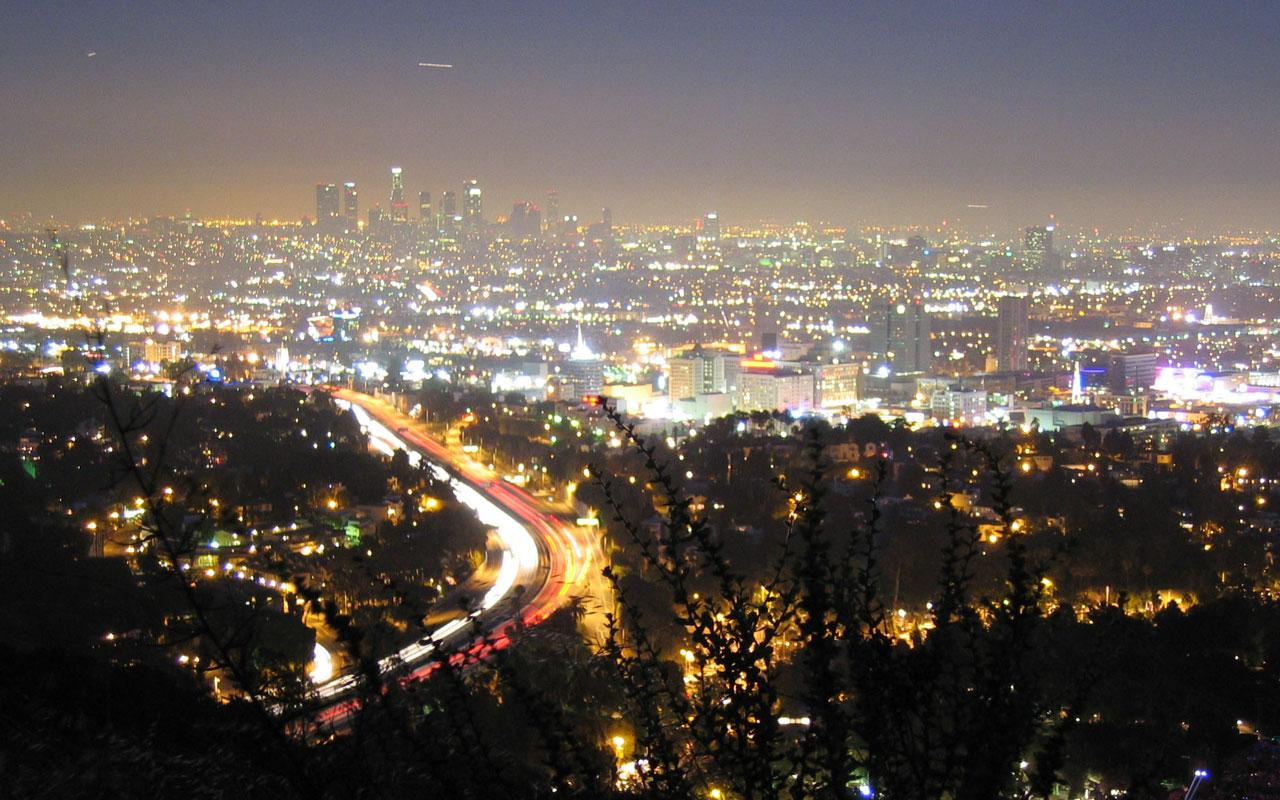Los Angeles - City from Hollywood Hills (Anders Brownworth) Wallpaper #1 1280 x 800