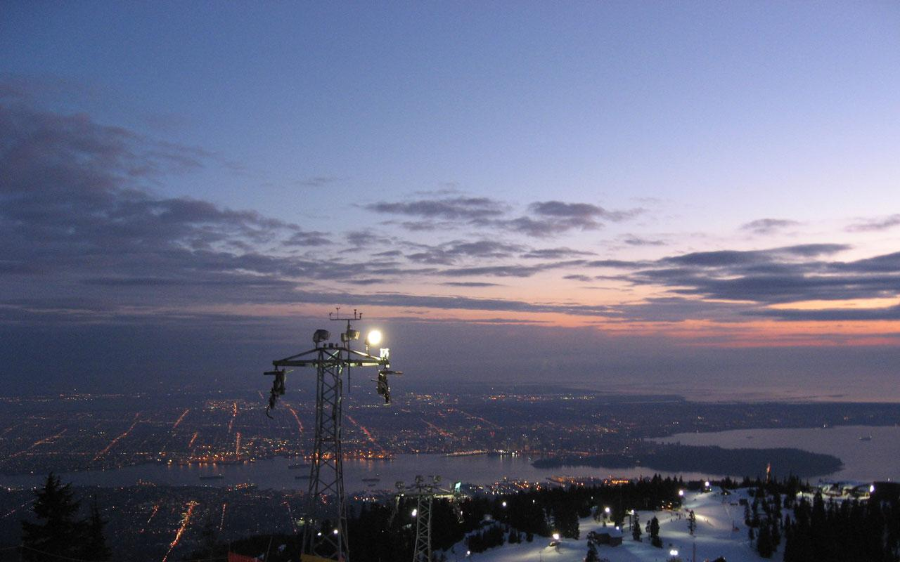 Best city vancouver city from grouse mountain 1280x800 for Home wallpaper vancouver