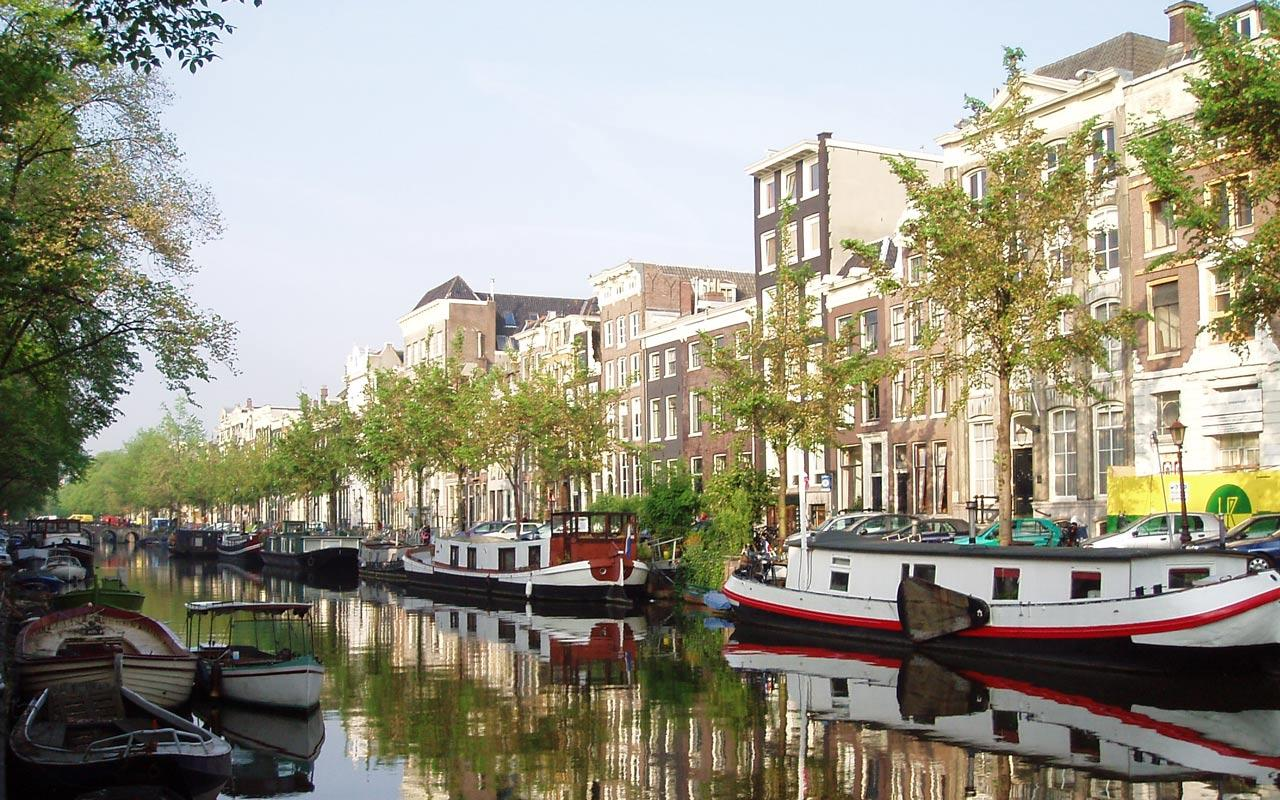 Amsterdam - Canal Wallpaper #3 1280 x 800