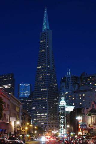 San Francisco - Transamerica Tower Wallpaper #1 320 x 480 (iPhone/iTouch)