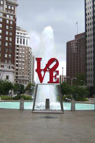 Philadelphia - Love Park Wallpaper #1 320 x 480 (iPhone/iTouch)