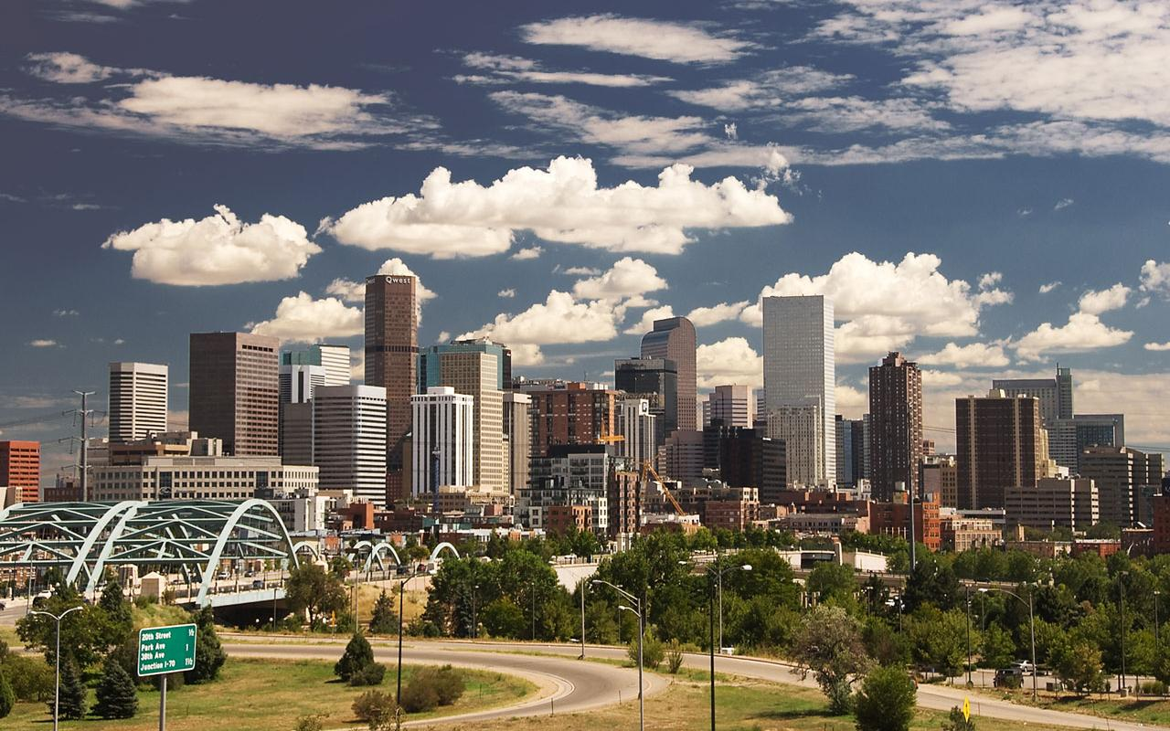 Denver - City Skyline Wallpaper #1 1280 x 800