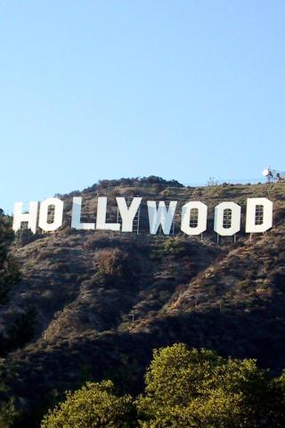 best city los angeles hollywood sign 320x480 iphone