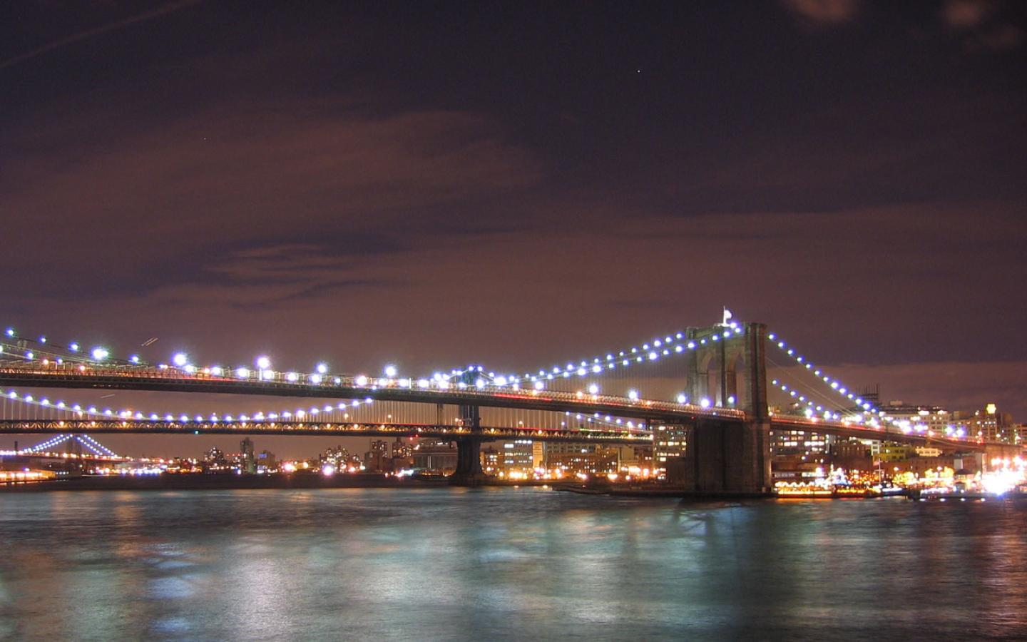 New York - Brooklyn Bridge Wallpaper #4 1440 x 900