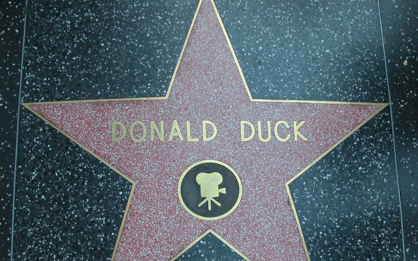 Los Angeles - Donald Duck on Walk of Fame Wallpaper #3 1440 x 900