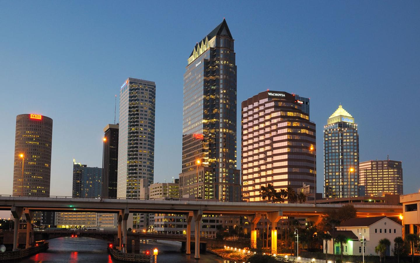 Tampa - Tampa City Skyline Wallpaper #1 1440 x 900
