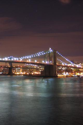 New York - Brooklyn Bridge Wallpaper #4 320 x 480 (iPhone/iTouch)