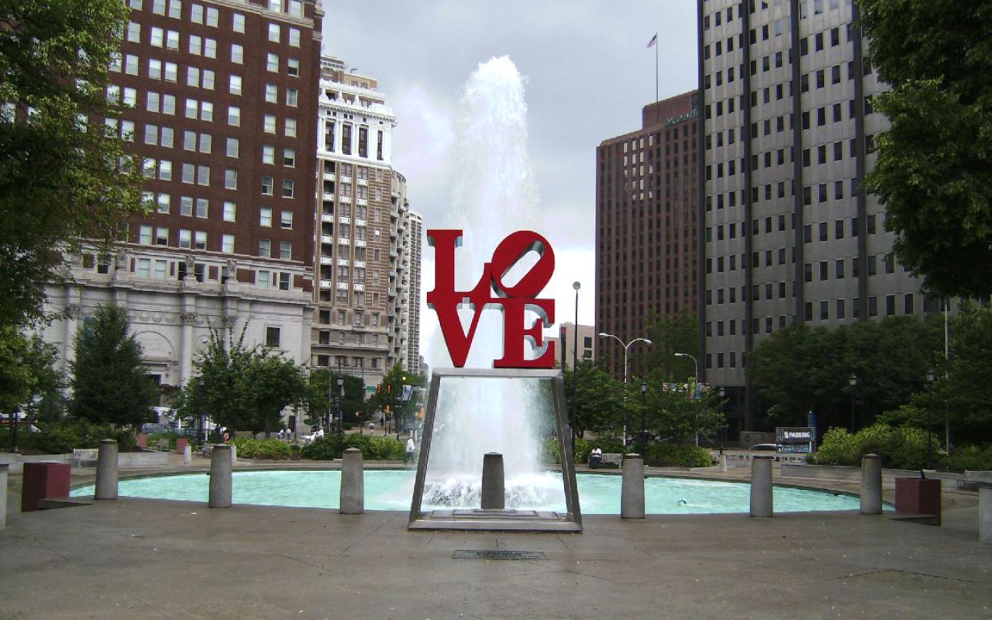 Philadelphia - Love Park Wallpaper #1 1440 x 900