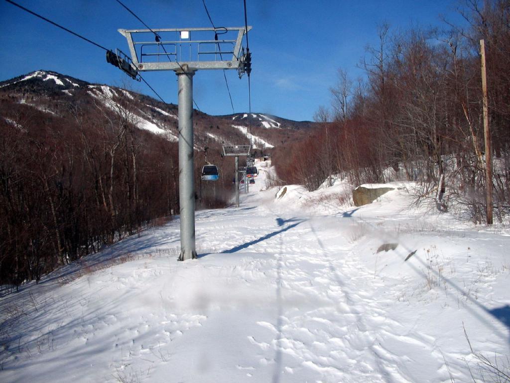best ski resort killington vermont view from skyeship gondola