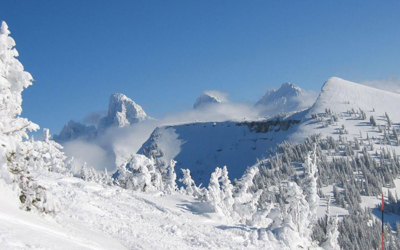 Grand Targhee, Wyoming - Grand Teton's from Fred's Mountain Wallpaper #1 1280 x 800