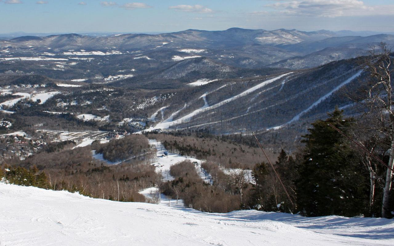 Sugarbush, Vermont - Lincoln Peak Base from North Lynx Wallpaper #1 1280 x 800